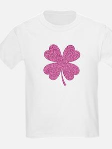 Green Glitter Shamrock st. paretics Irish T-Shirt