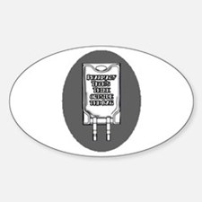 PT think outside the Bag Oval Decal
