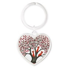 Red ones squared Heart Keychain