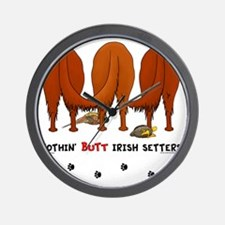 IrishSetterButtsNew Wall Clock