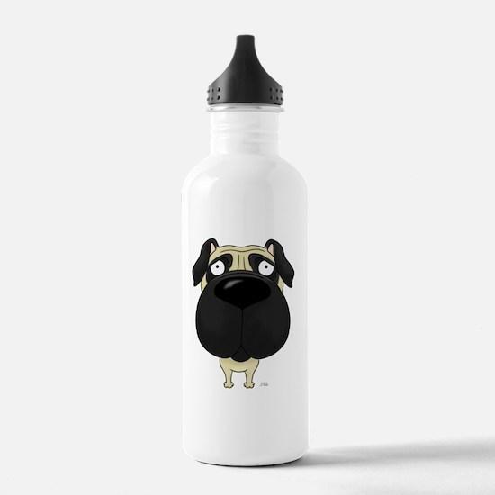 PugShirtFront Water Bottle