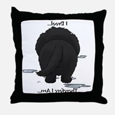NewfieDroolMirrorLight Throw Pillow
