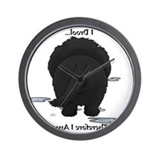 NewfieDroolMirrorLight Wall Clock