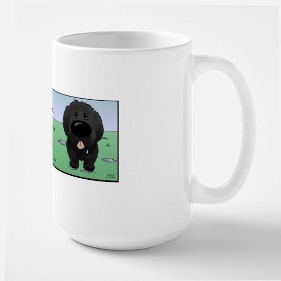 NewfieDroolMugBorder Large Mug