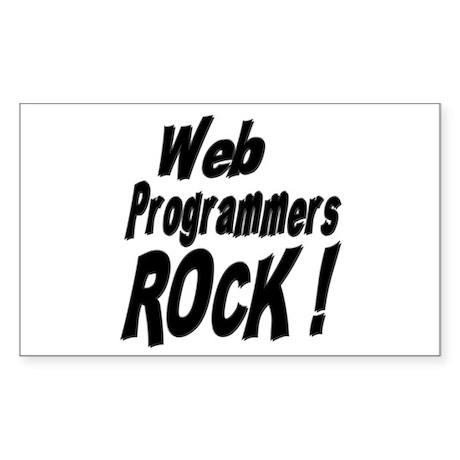 Web Programmers Rock ! Rectangle Sticker