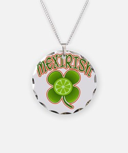 mexirish-lime Necklace Circle Charm