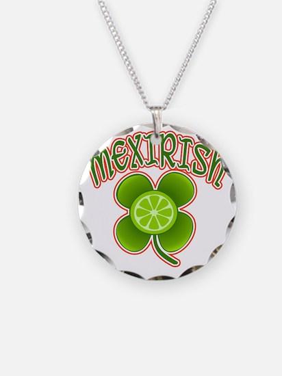 mexirish-lime Necklace Circle Charm
