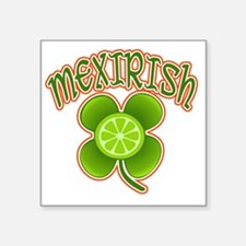 "mexirish-lime Square Sticker 3"" x 3"""
