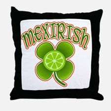 mexirish-lime Throw Pillow