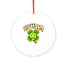 mexirish-lime Round Ornament