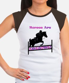 horses_are_awesome2 Women's Cap Sleeve T-Shirt