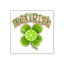 "mexirish-lime-vintage Square Sticker 3"" x 3"""