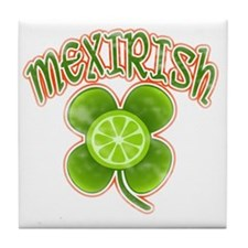 mexirish-lime-vintage Tile Coaster