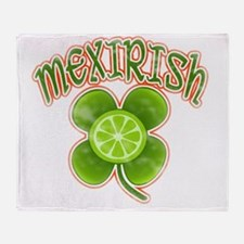 mexirish-lime-vintage Throw Blanket