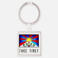 tibet30 Square Keychain