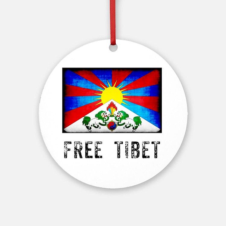 tibet30 Round Ornament
