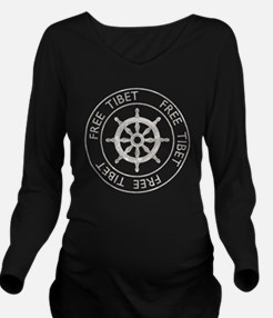 tibet31Bk Long Sleeve Maternity T-Shirt
