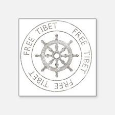 "tibet31Bk Square Sticker 3"" x 3"""