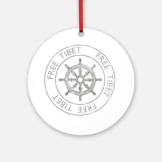 tibet31Bk Round Ornament