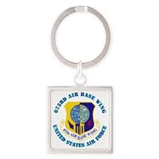 673rd Air Base Wing with Text Square Keychain