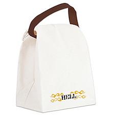 24-black Canvas Lunch Bag