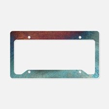 White Feather License Plate Holder