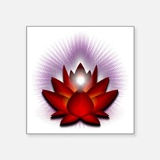 "Chakra Lotus - Red Square Sticker 3"" x 3"""