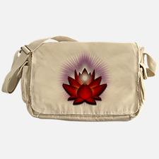 Chakra Lotus - Red Messenger Bag