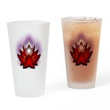 Chakra Lotus - Red Drinking Glass
