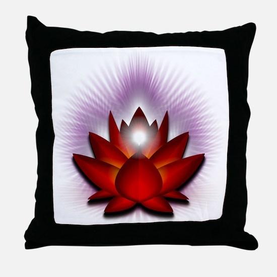 Chakra Lotus - Red Throw Pillow