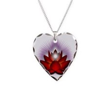 Chakra Lotus - Red Necklace