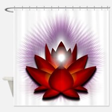 Chakra Lotus - Red Shower Curtain
