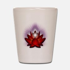 Chakra Lotus - Red Shot Glass
