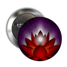 """Chakra Lotus - Root Red - Banner 2.25"""" Button"""
