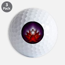 Chakra Lotus - Root Red - square Golf Ball
