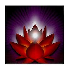 Chakra Lotus - Root Red - Greeting Ca Tile Coaster