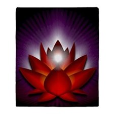 Chakra Lotus - Root Red - Greeting C Throw Blanket