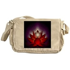 Chakra Lotus - Root Red - Greeting C Messenger Bag