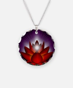 Chakra Lotus - Root Red - Gr Necklace