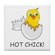 HOT CHICK! Tile Coaster