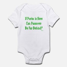 After Purim Comes Passover Infant Bodysuit