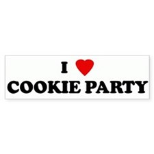 I Love COOKIE PARTY Bumper Car Sticker