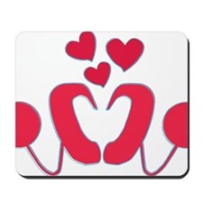 abstractci6-hearts Mousepad