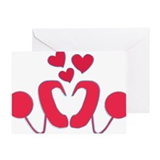abstractci6-hearts Greeting Card