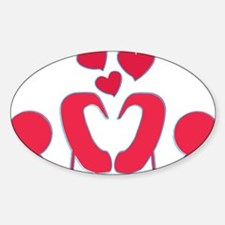 abstractci6-hearts Sticker (Oval)