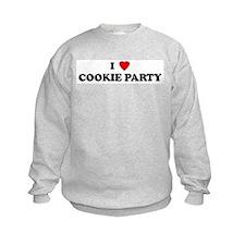 I Love COOKIE PARTY Sweatshirt