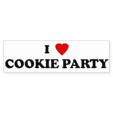I Love COOKIE PARTY Bumper Bumper Sticker