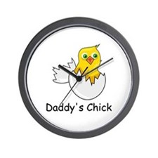 DADDY'S CHICK Wall Clock