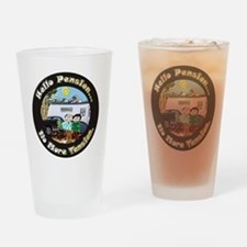 HelloPension3 12x12 Drinking Glass