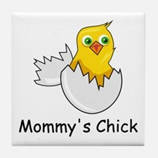MOMMY'S CHICK Tile Coaster